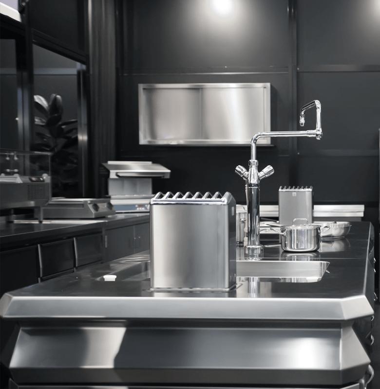 Spotless stainless steel kitchen