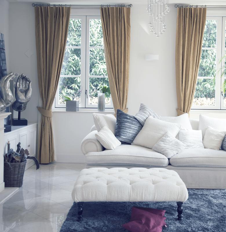Clean residential living room