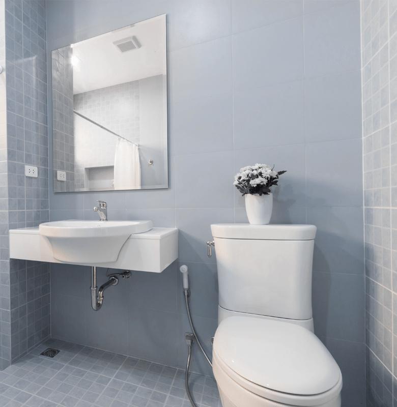 Spotless residential bathroom
