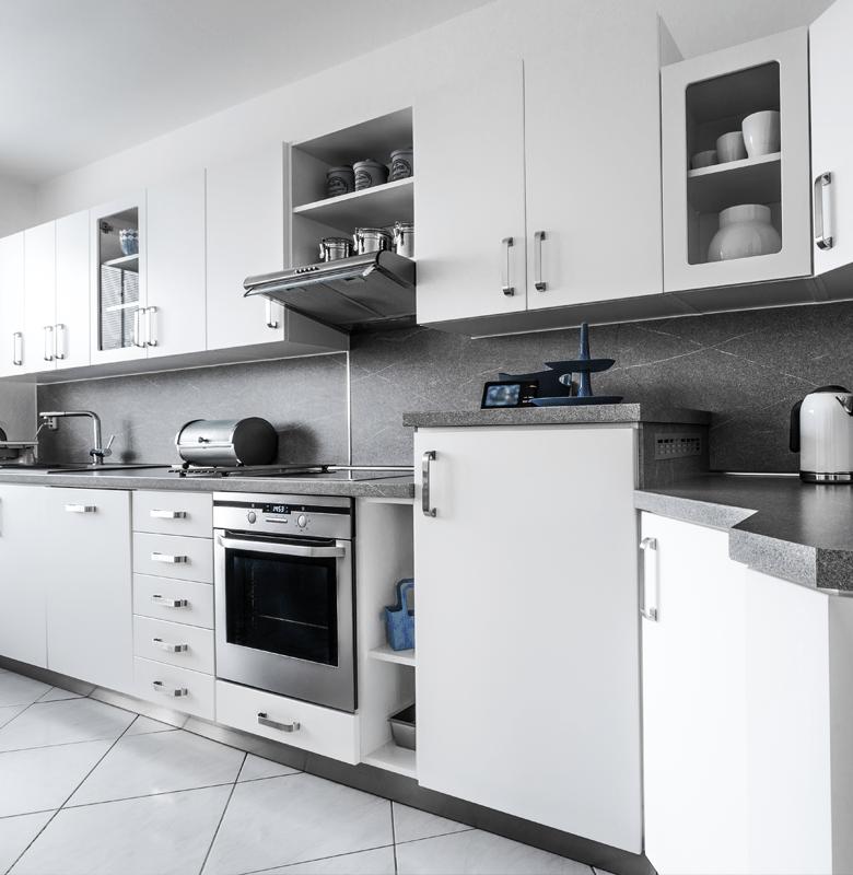 Clean residential kitchen